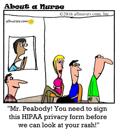 Knock knock.  Who's there?  HIPAA.  HIPAA who?