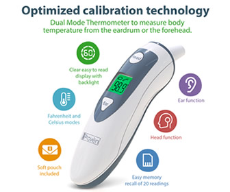 iProvèn Medical Ear Thermometer DTM-489 with Forehead Function
