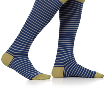 VIM & VIGR Men's Little Stripes Compression Socks